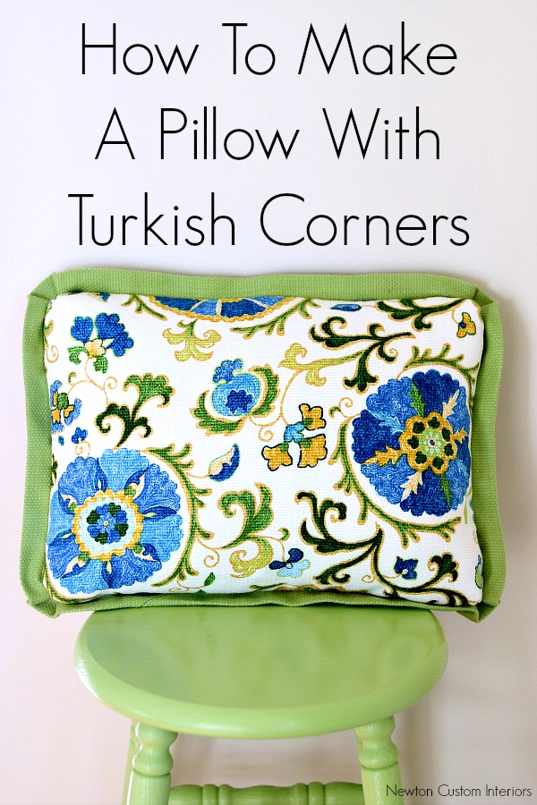How to sew Turkish Corners