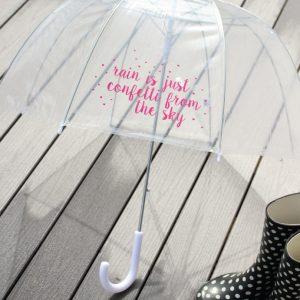 DIY Vinyl Decorated Umbrella