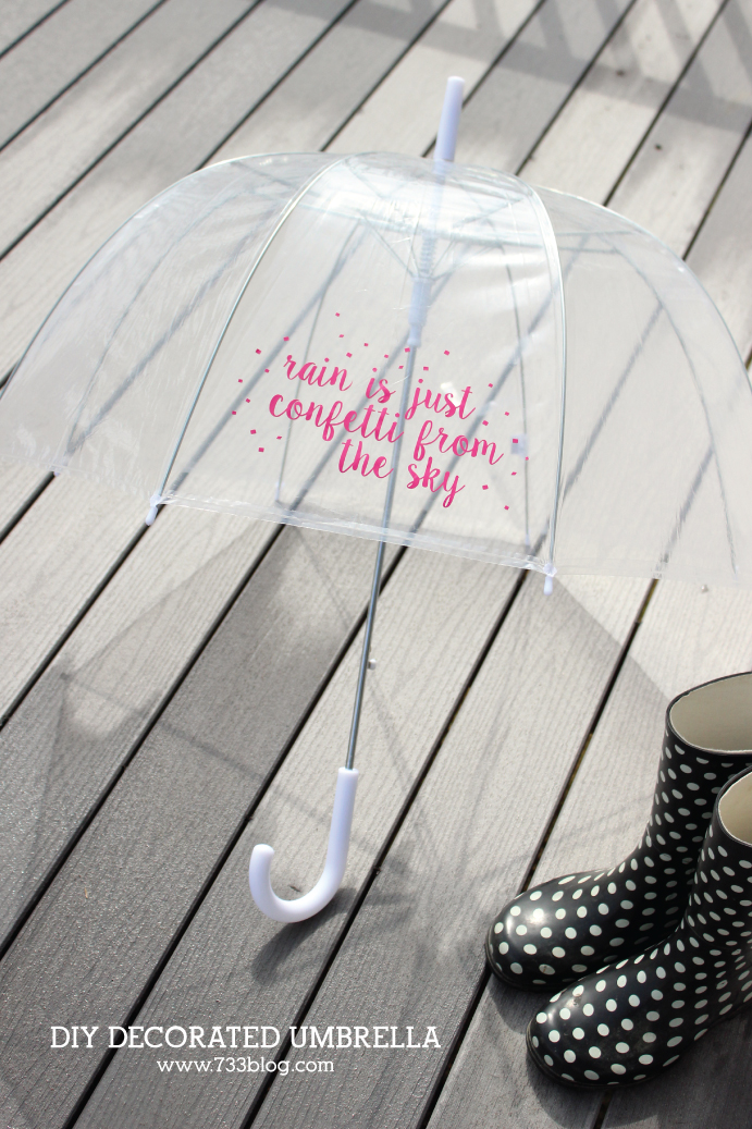 DIY Vinyl Decorated Umbrella