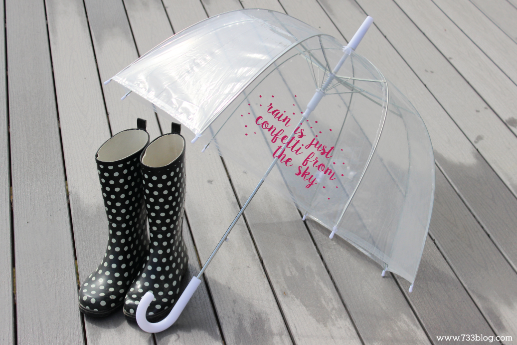 "DIY ""Rain is just confetti from the sky"" Bubble Umbrella"