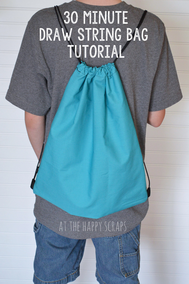 30 Minute Drawstring Bag Tutorial