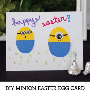 DIY Minion Easter Egg Card