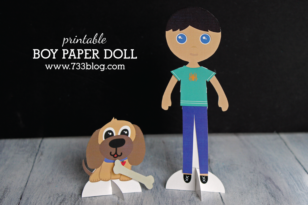Mason Thomas Printable Boy Paper Doll Set