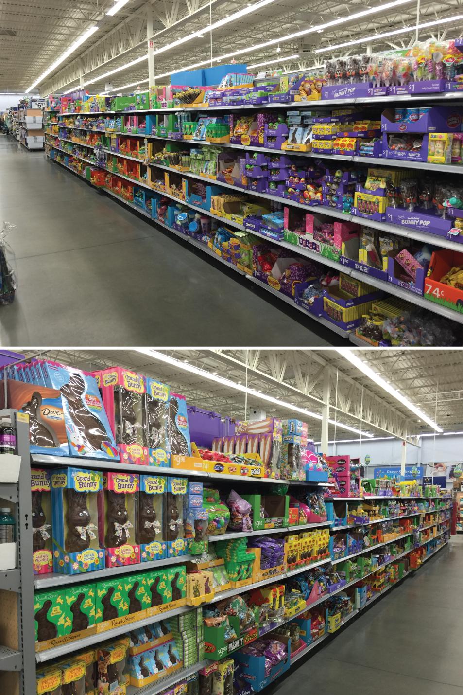 Walmart Easter Aisle