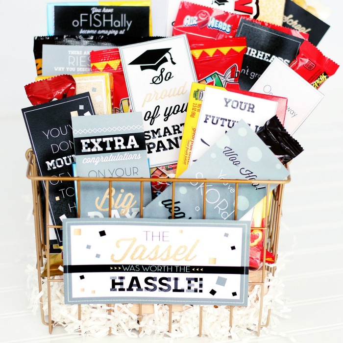 Graduation Gift Basket Printable Pack