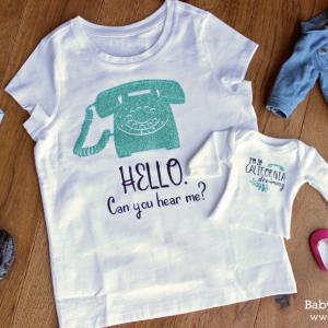 DIY Baby and Me Matching Shirts Tutorial