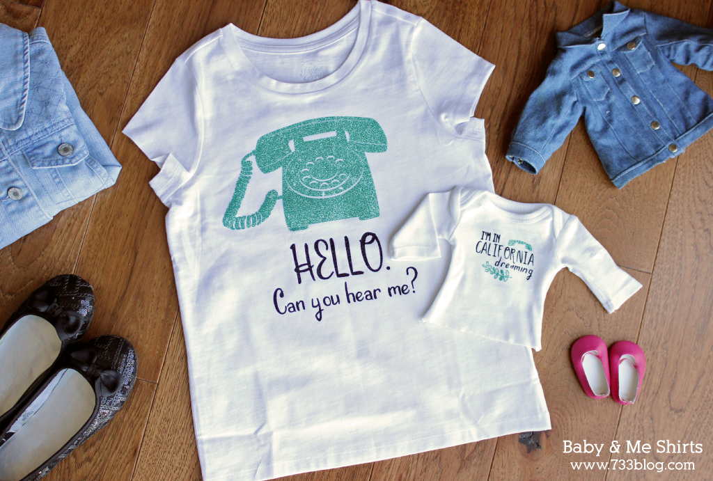 DIY Baby and Me Matching Shirts