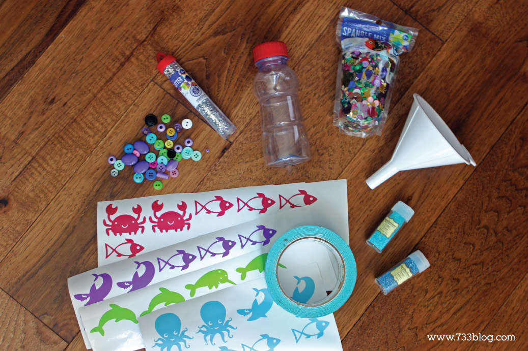 Ocean Themed Discovery Bottle Tutorial - fun kids craft