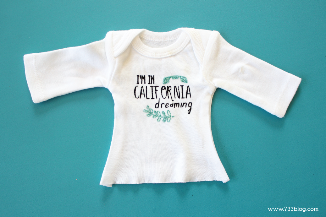 "Turn a Newborn Onesie into an 18"" Doll Shirt"