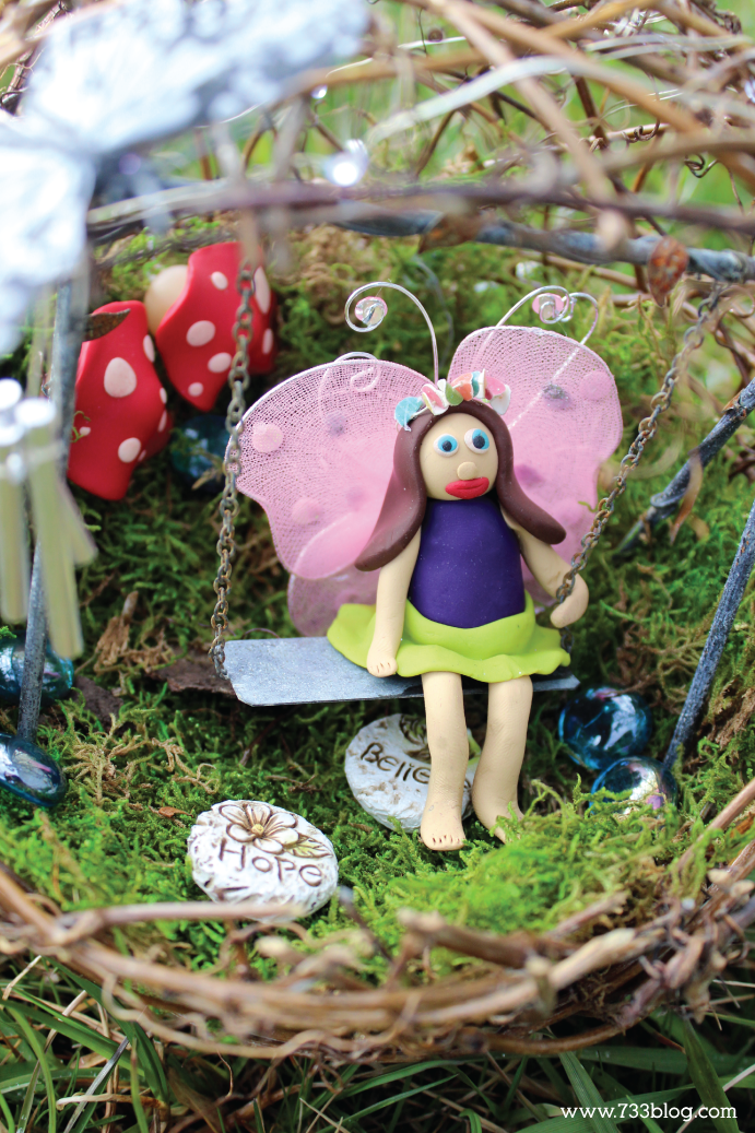 DIY Clay Fairy for a Fairy Garden