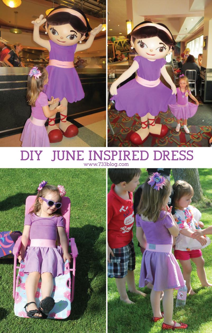 diy little einstein june inspired dress