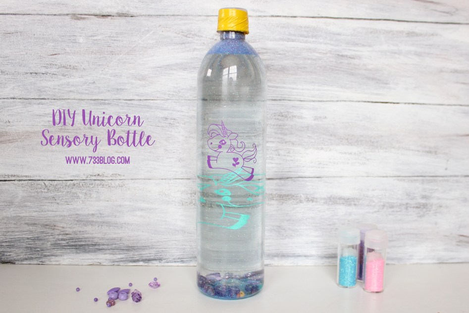 DIY Unicorn Sensory Bottle Kids Craft Tutorial