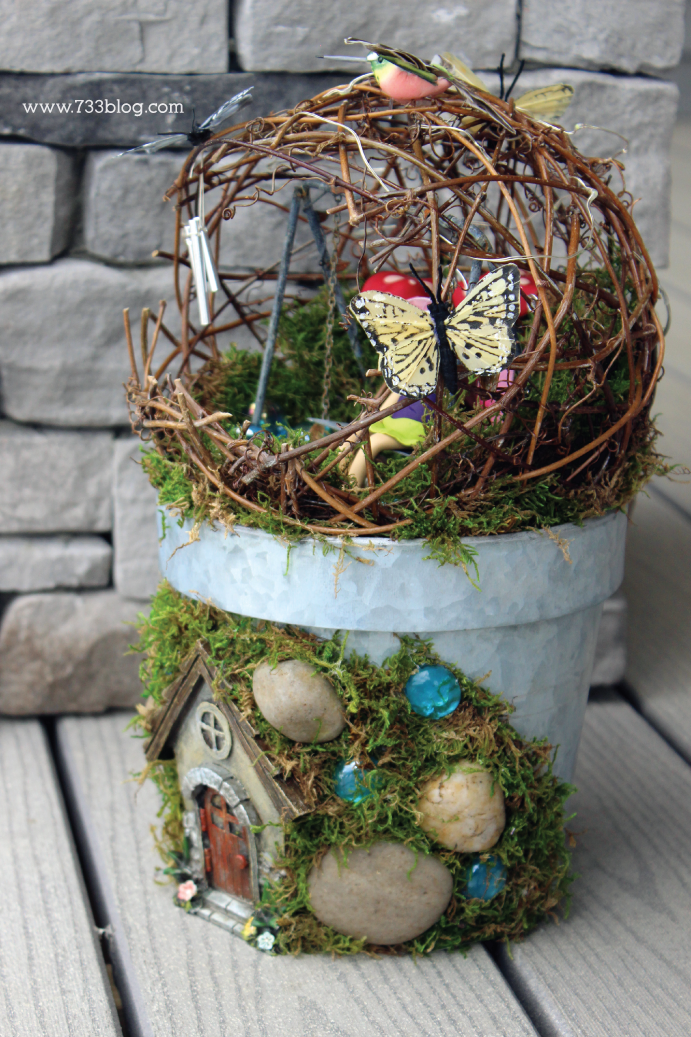 DIY Fairy Garden Planter Tutorial