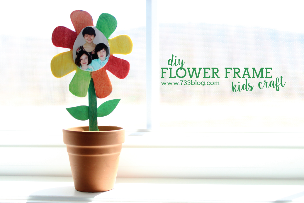 Potted Flower Frame Kids Craft - Inspiration Made Simple