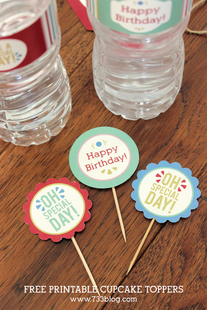 """Oh Special Day"" Free Printable Cupcake Toppers"