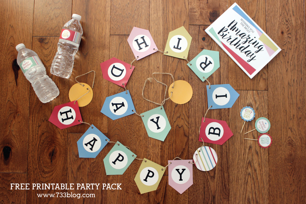 Free Printable Party Pack - Great for all ages and genders!