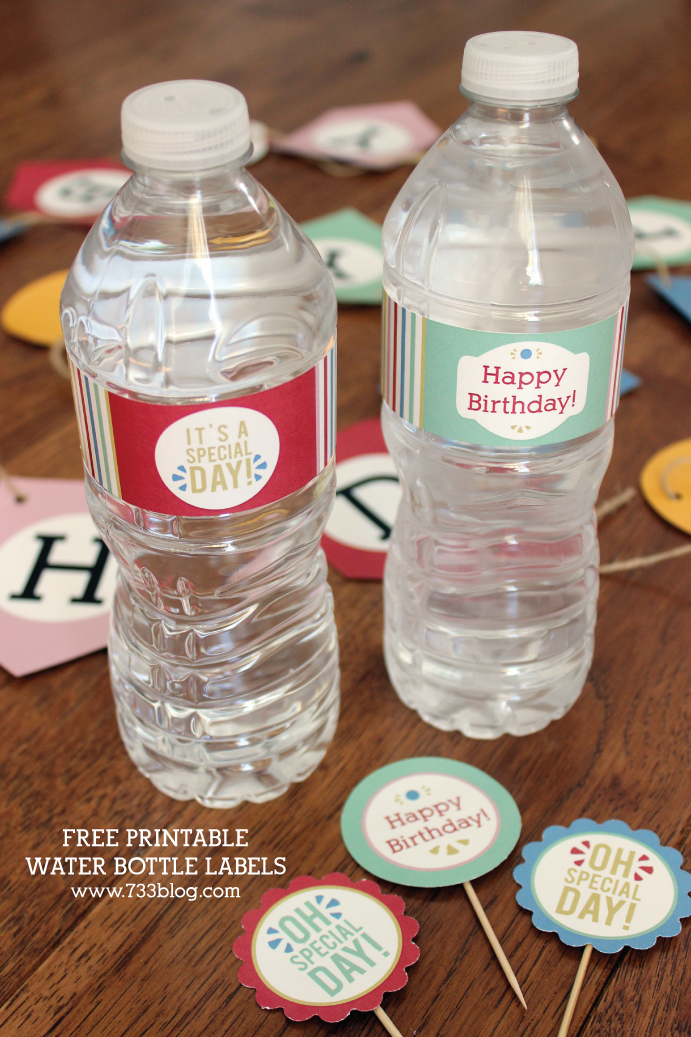 Free Printable Birthday Water Bottle Labels