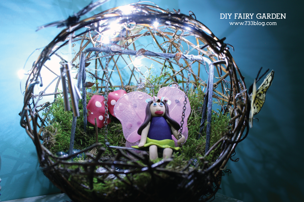DIY Lighted Fairy Garden