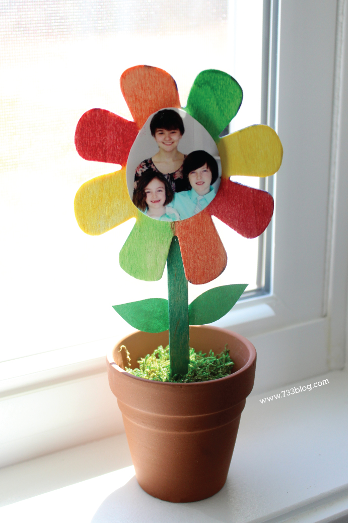 Potted Flower Frame Kids Craft Mother's Day Gift Idea