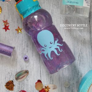 Ocean themed discovery bottle kids craft tutorial