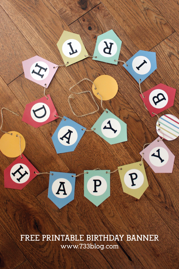 Free Printable Birthday Banner for all ages!
