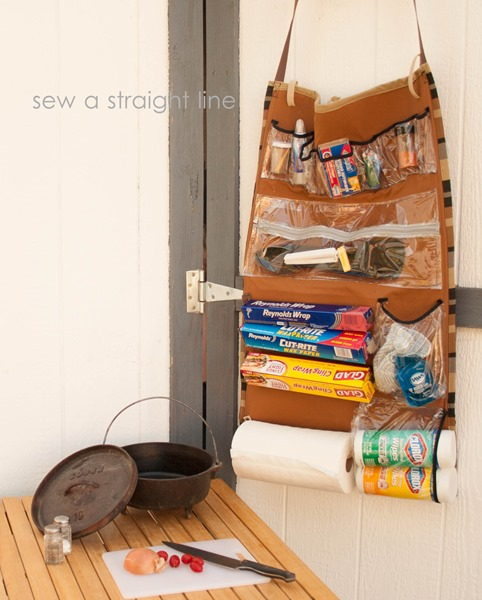 DIY Camp Kitchen Organizer