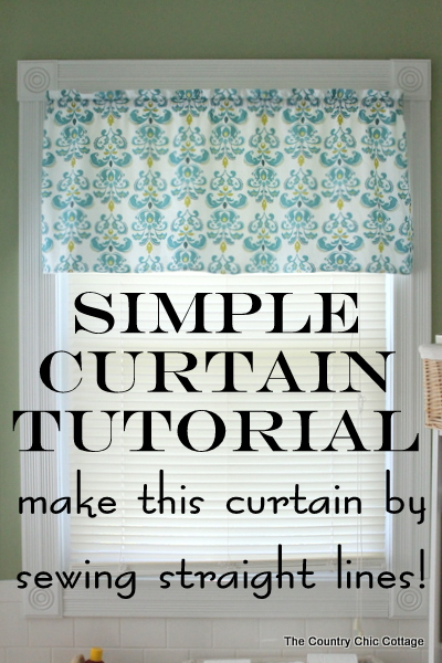 DIY Simple Curtain Sewing Tutorial