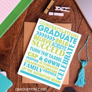 Printable Subway Art Graduate Gift Idea