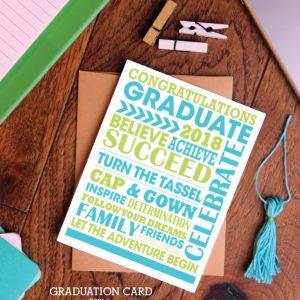 Printable Subway Art Graduate Gift Idea