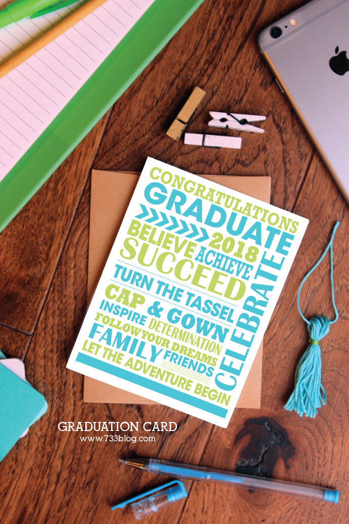 2018 Printable Graduation Card
