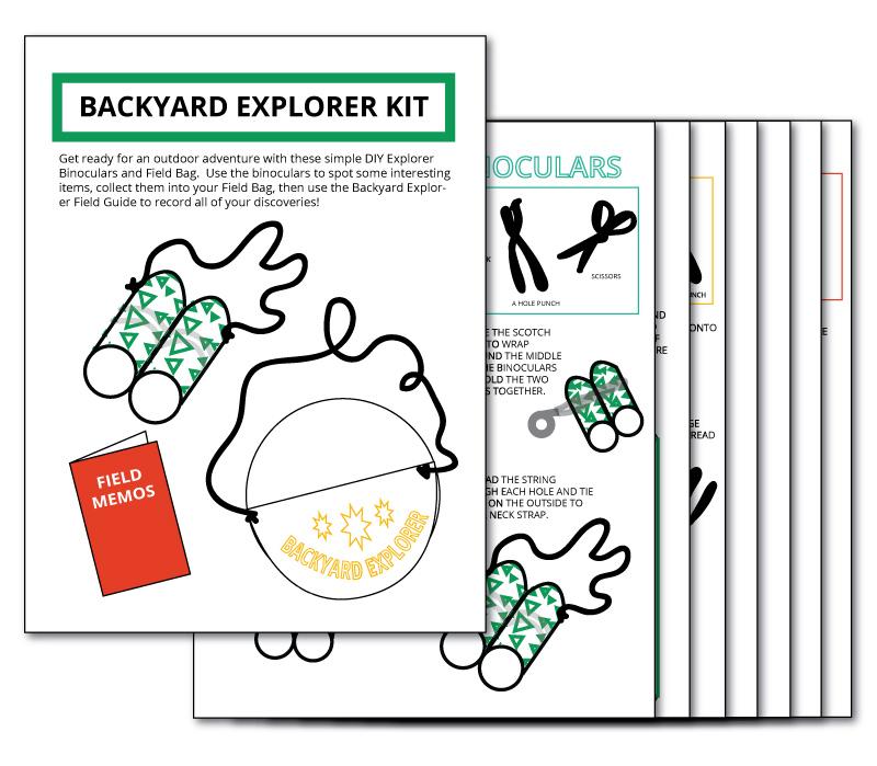 Printable Backyard Explorer Kit