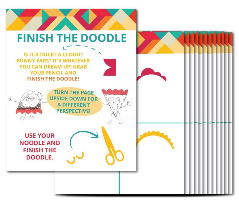 Printable Finish the Doodle Kids Activity