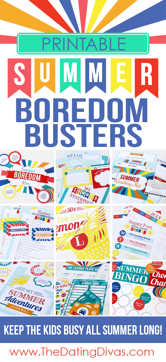 Printable Summer Boredom Buster Activities