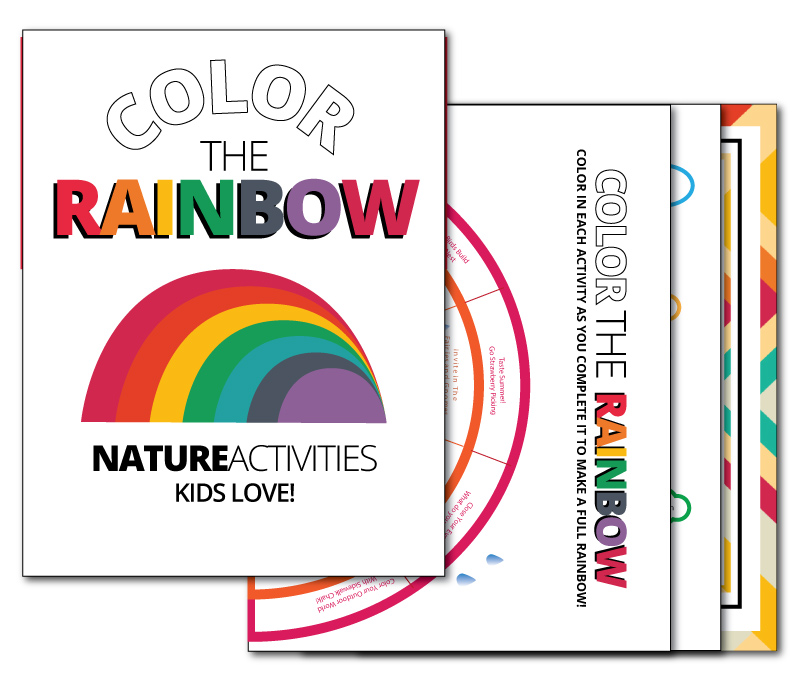 Printable Color the Rainbow Nature Activity