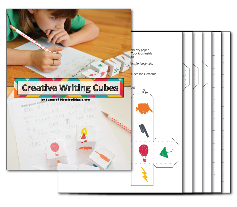 Printable Creative Writing Cubes -roll the cubes and create lots of fun stories!