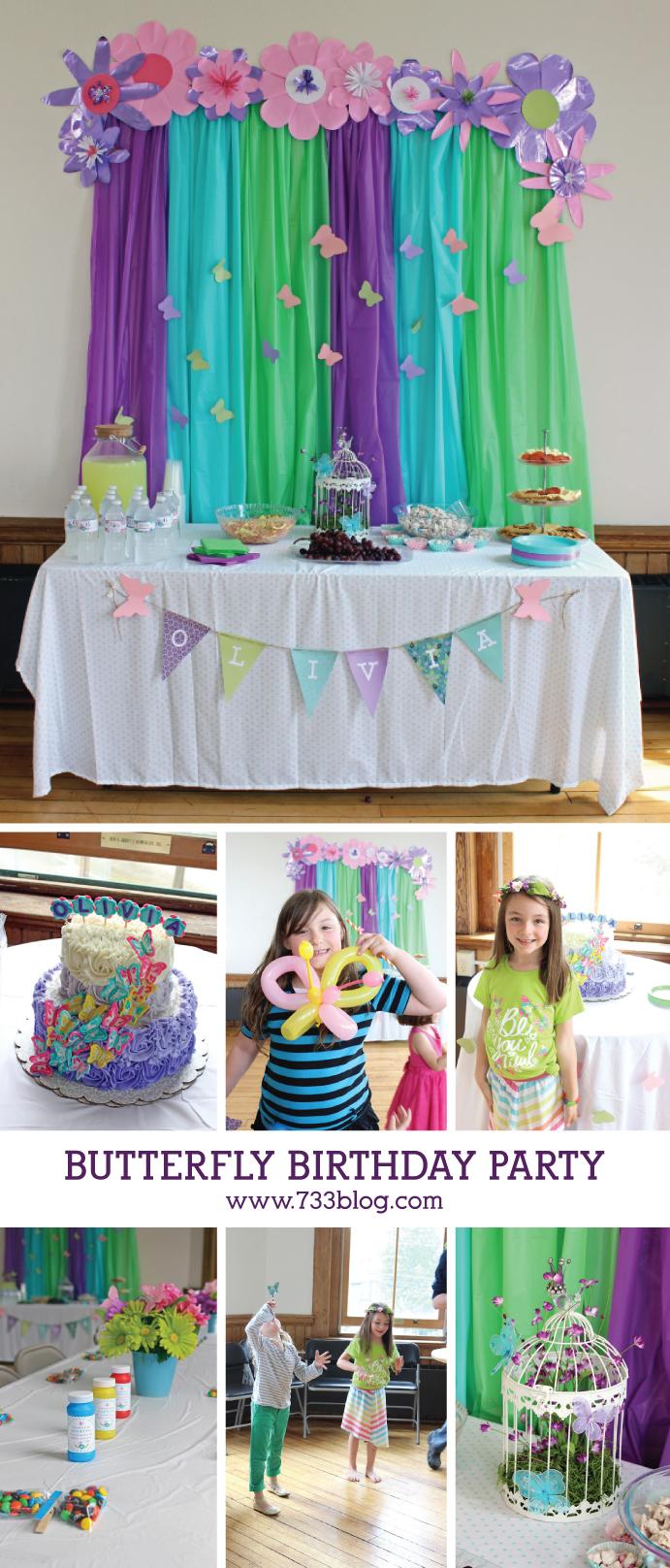 DIY Butterfly Birthday Party