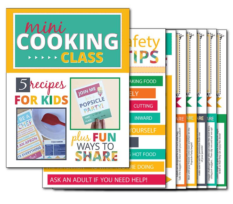 Printable Mini Cooking Class for Kids