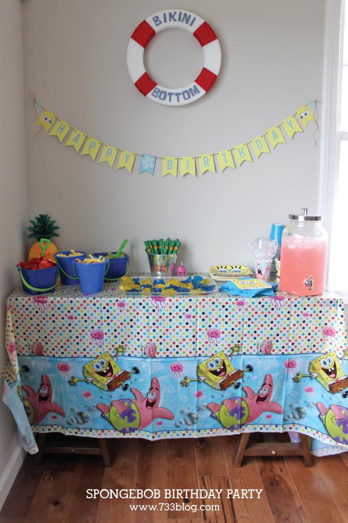 Spongebob Themed Birthday Party Ideas