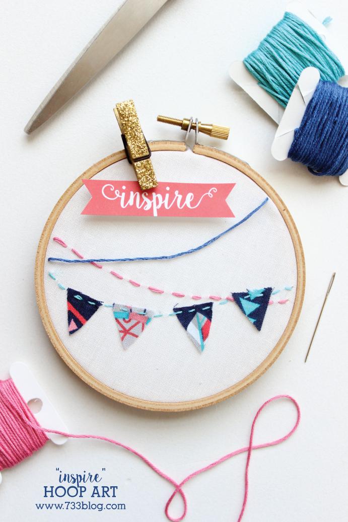 """""""Inspire"""" Hoop Art"""