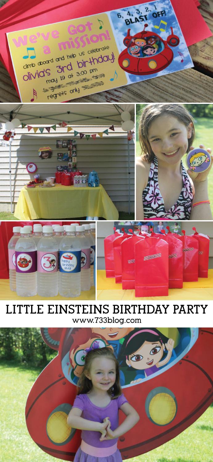 DIY Little Einsteins Birthday Party