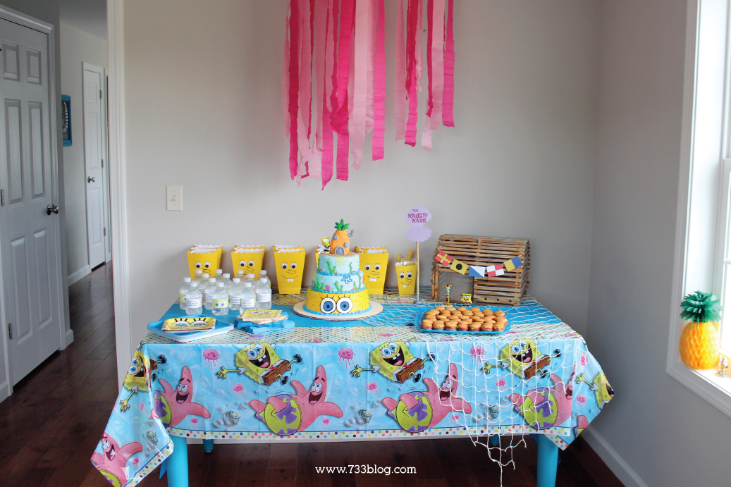 Spongebob Themed Birthday Party Ideas