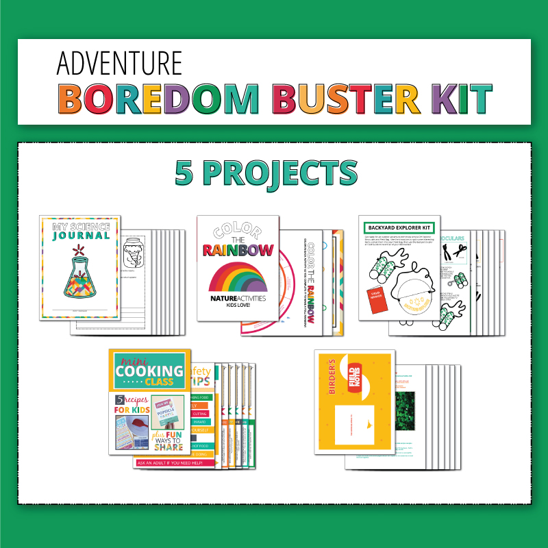 Keep the kids entertained this summer with the adventure boredom buster kit!