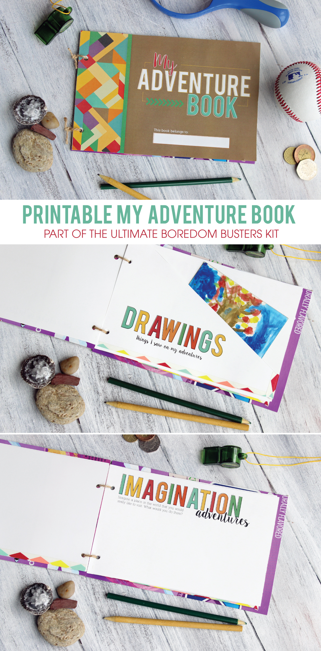 Printable My Adventure Book - included in the Ultimate Boredom Kit Printable Pack! Keep the kids busy this summer with these fun and educational activities!