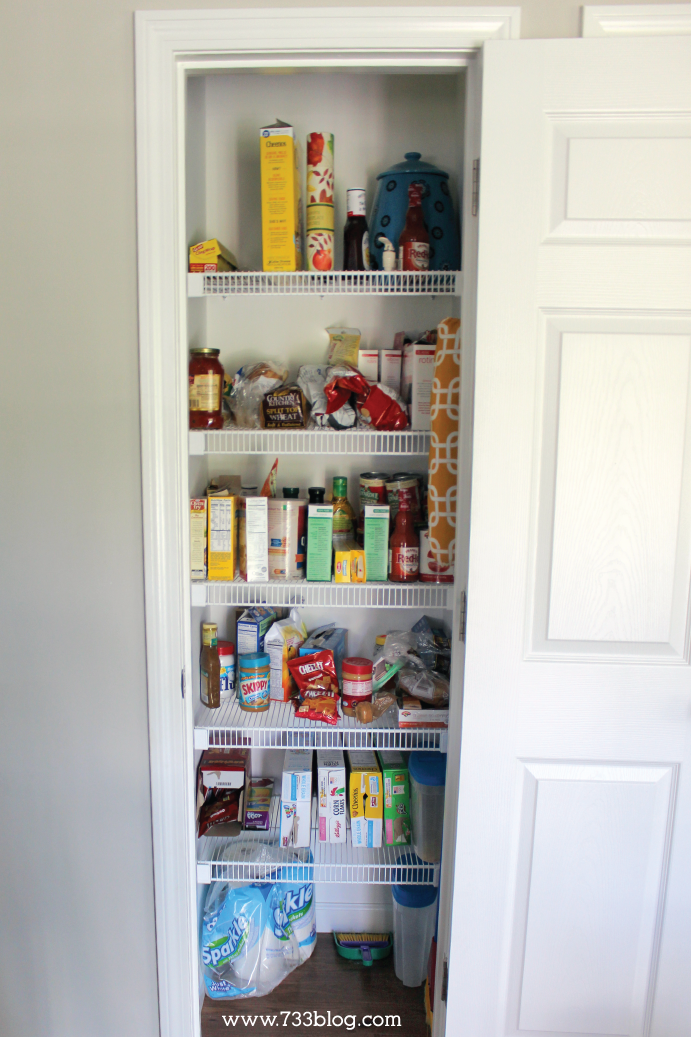 Messy Wire Shelf Pantry - You've got to see the after!