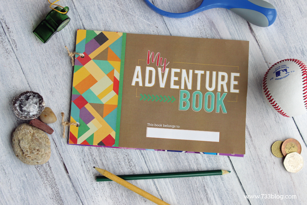 Printable My Adventure Book Kids Craft - Makes a great Summer boredom buster!