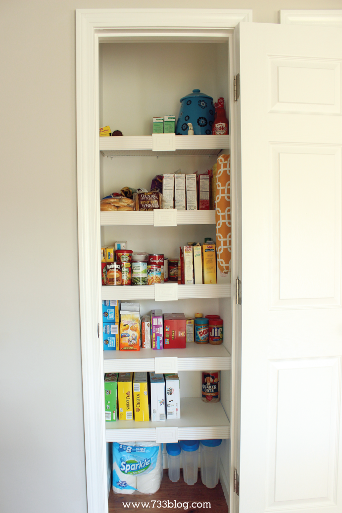 Cover your pantry wire shelves for cleaner, easier storage!