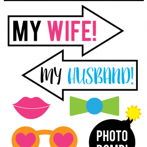 Printable Anniversary Photo Booth Props