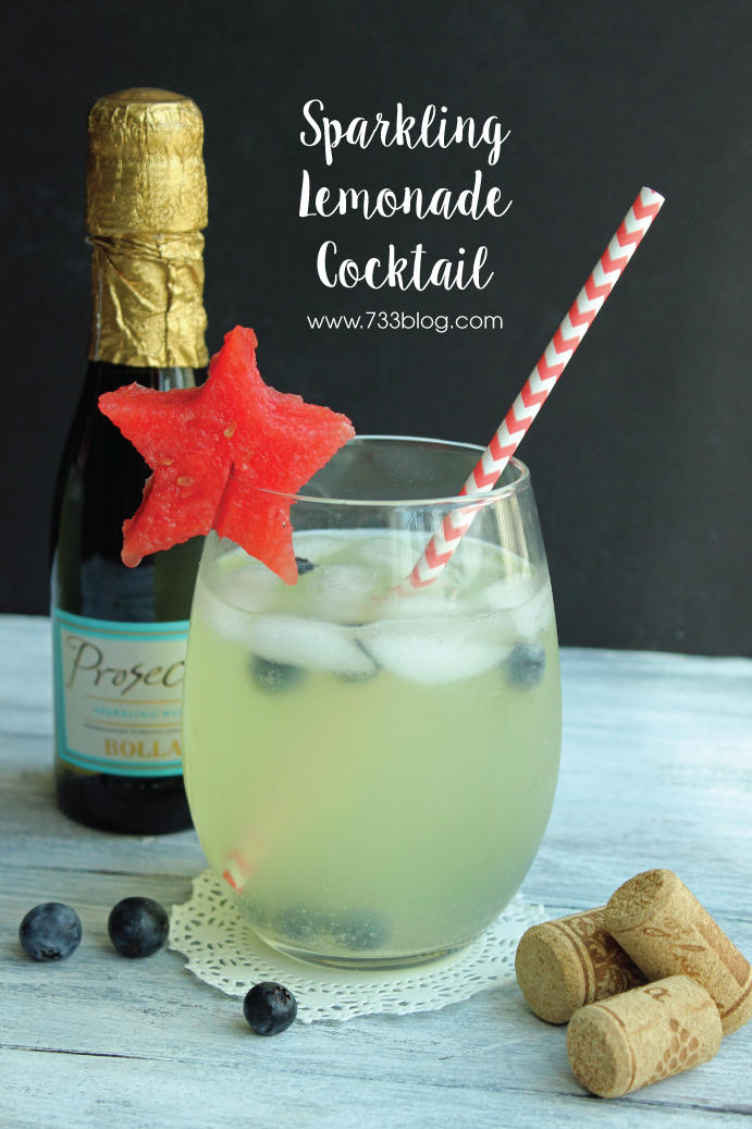 Sparkling Lemonade Cocktail - Perfect for lounging by the pool on a warm summer day!