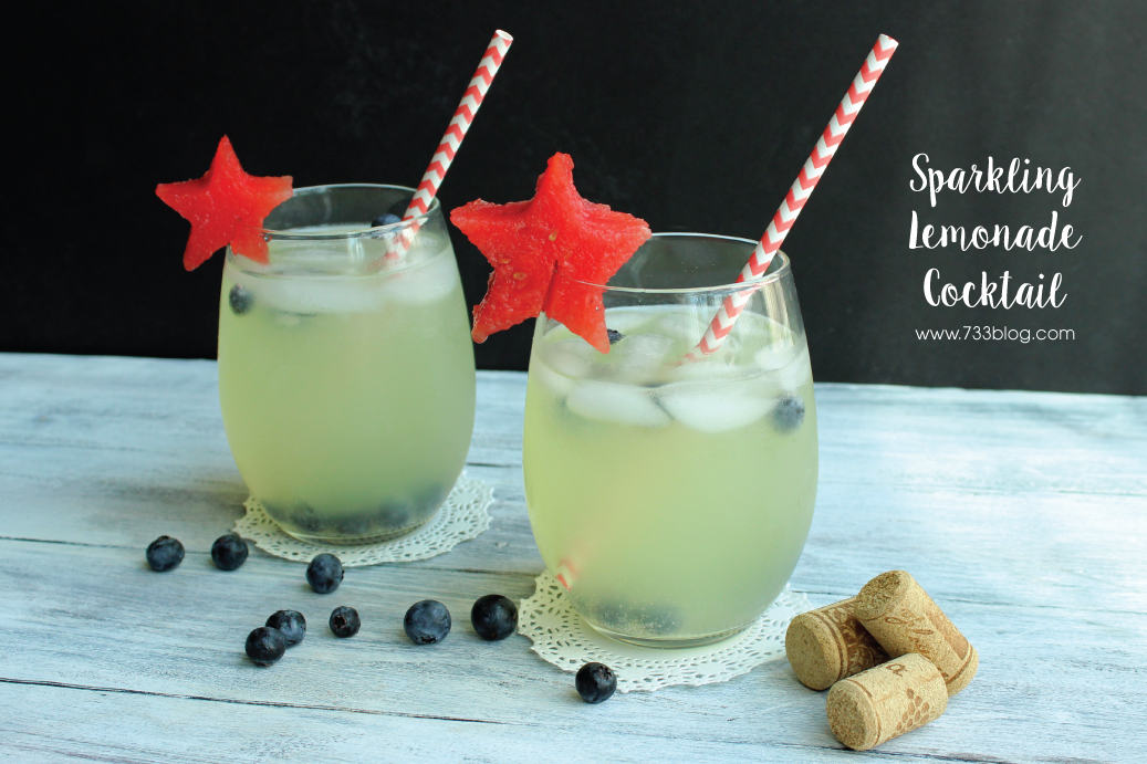 Patriotic Sparkling Lemonade Cocktail
