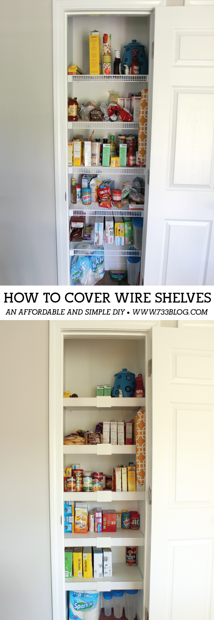 How to cover your wire shelves - an affordable and simple DIY